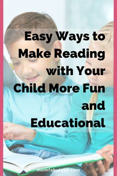 Easy Ways to Make Reading with Your Child More Fun and Educational Kids Lunch For School, Healthy Lunches For Kids, Back To School Hacks, School Tips, School Lunches, Step Parenting, Parenting Toddlers, Parenting Hacks, Good Listening Skills
