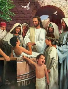 The Lord Jesus Christ is our Abundant Healer. - Love the little boy who is pointing and has the excited look on his face.