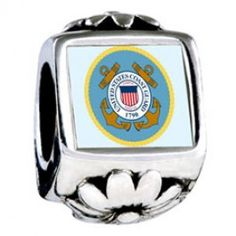 Character Coast Guard Photo Flower Charms  Fit pandora,trollbeads,chamilia,biagi,soufeel and any customized bracelet/necklaces. #Jewelry #Fashion #Silver# handcraft #DIY #Accessory