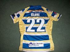 Doncaster Match worn James Clare 2013 Rugby League Shirt Large Top Jersey