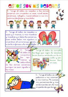 Cartel De Derecho Y Obligaciones De Los Ninos Y Ninas Life Skills Education Cards