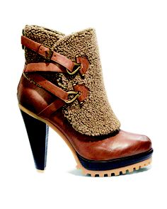 Rugged heeled booties