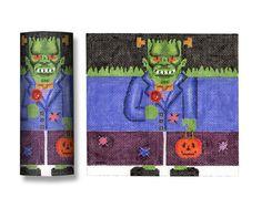 Needlepoint Halloween Canvas - Frankenstein Roll Up - 18 mesh $52.00