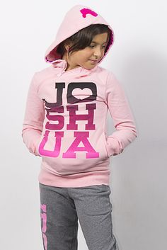 JOSHUA pink and grey sweats outfit! Cute, comfortable, cozy. Girls and teens, Joshua Perets apparel