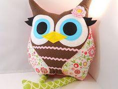 Girl Owl Pillow