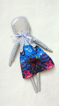 Rag doll Cloth Doll Dress up doll Helen by MiniwerkaToys on Etsy