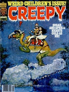 A cover gallery for the comic book Creepy Creepy Comics, Horror Comics, Comic Book Covers, Comic Books, Dcc Rpg, Creepy Kids, Weird Kids, Read Comics Online, Pulp Fiction Book
