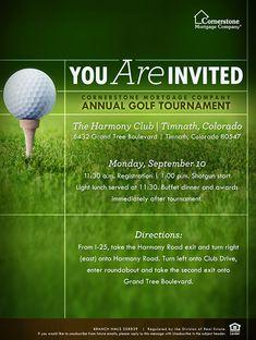 Golf Tournament Flyer Design Inspiration Pinterest