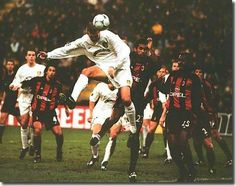 This is the rather good goal that Dominic Matteo scored in the San Siro in Milan in 2001, soon after he had joined Leeds from Liverpool. The goal prompted  a famous song that still gets sung by United fans even today and Matteo enjoys being in a select group of players whose name is sung years after leaving the club.