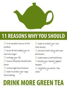 11 reasons why you should drink more green tea Shaklee Energizing Green Tea www.behealthylaughmore.myshaklee.com