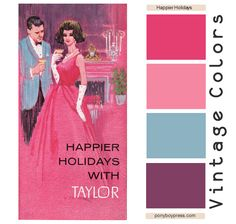Vintage Color Palettes - Happier Holidays from Taylor - hex color codes on the blog