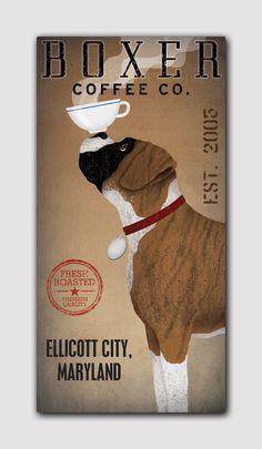 PERSONALIZED Customized BOXER Dog Coffee Co by nativevermont @megan Elizabeth :)