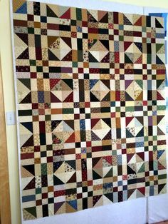 asimplelife Quilts, quilt pattern Path & Stiles. A good way to use scraps.