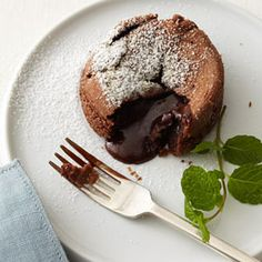 Molten Chocolate Cakes. Thanks to Janice for sharing this recipe with me. I have made it twice already and it was a hit all the way around and so easy to make too! One small issue with the recipe, the amount of choc chips is left out! It's 1/3 cup for 2 servings. I found it in the actual magazine. Apparently it was a mistake on the on-line version.