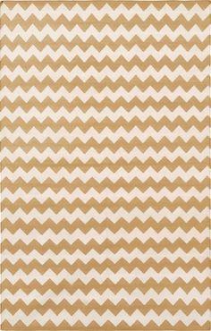 Madeline Weinrib - Cotton - Carpets Camel Zigzag