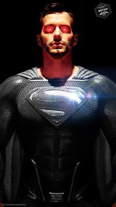 Black Suit Superman by Bryanzap Superman Black Suit, Evil Superman, Superman Cavill, Superman Man Of Steel, Batman And Superman, Fotos Do Superman, Mundo Superman, Dc Comics Superheroes, Dc Comics Art