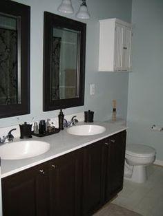 Painting Bathroom Cabinets Black black painted bathroom cabinets @joys of home   my home
