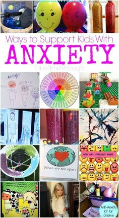 This post shares ideas for helping kids deal with anxiety by helping them to identify the state, express it, release it, and prevent it. therapy activities for kids social work Counseling Activities, Therapy Activities, Activities For Kids, Play Therapy, Art Therapy, Anxiety Activities, Therapy Tools, Science Activities, Science Projects
