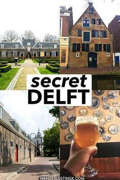 Visiting Delft, the Netherlands. This corner of Holland has far more secrets beyond Delftware. Read about 15 secret places in Delft that you'll want to visit! Visit Holland, Beautiful Buildings, Beautiful Places, Holland Netherlands, Argentina Travel, Amsterdam Travel, Secret Places, Koh Tao, Culture Travel