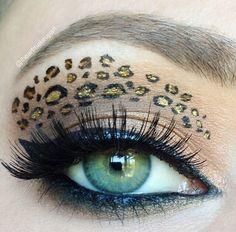 pretty leopard makeup more make up pinterest. Black Bedroom Furniture Sets. Home Design Ideas