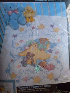 NEW-JANLYNN-CROSS-STITCH-QUILT-KIT-WINNIE-THE-POOH-FLUTTERING ... : stamped cross stitch baby quilt kits - Adamdwight.com