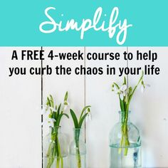 This FREE 4-week course is designed to help you simplify and curb the chaos in your life.