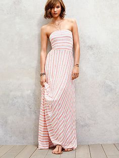 Maxi dress from VS is a great casual summer look! #dresses #womens #victoriassecret