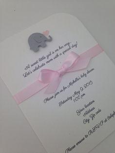 Elefante bebé ducha invitación