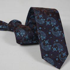Corbata Marrón Cachemir Floral Tie, Fashion, Fall Winter 2014, Ties, Elegance Fashion, Accessories, Moda, Fashion Styles, Fashion Illustrations