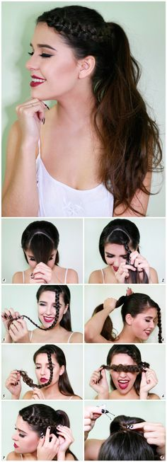 Hair Daily Hairstyles, Everyday Hairstyles, Pretty Hairstyles, Girl Hairstyles, Braided Hairstyles, Medium Hair Styles, Natural Hair Styles, Long Hair Styles, How To Make Hair