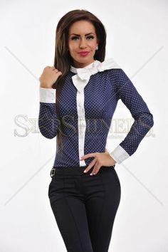Camasa Fofy Serenity DarkBlue Serenity, Dark Blue, Blazer, Jackets, Clothes, Women, Fashion, Down Jackets, Outfits