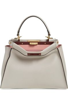 FENDI 'Peek-A-Boo' Medium Crossbody Bag. #fendi #bags #shoulder bags #leather #crossbody #