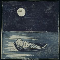 Infant in Boat, by William De Morgan (1839-1917). England, late 19th century.  © Victoria and Albert Museum, London