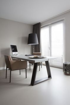 Private Office In Amsterdam Penthouse With Sensofloors. Design By Remy  Meijers.