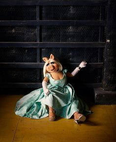 Miss Piggy | Photo by Dominick Guillemot | ODDA magazine Fall/Winter 2015 | Dress by Vivienne Westwood