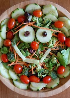 What a FUN salad for kids!  happy-food indeed!