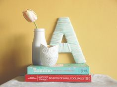 DIY a yarn-wrapped monogram with this tutorial.