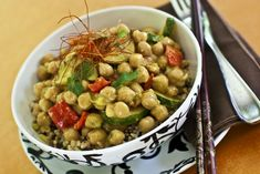 Thai Chickpea Almond Curry - This recipe is quickly becoming a reader hit, it's a one-dish wonder, add all ingredients to a baking dish and let the oven do the rest!