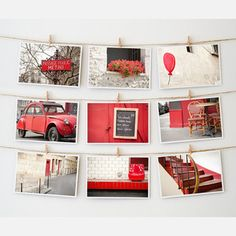 Paris Postcard Collection Red, $12.50, now featured on Fab.