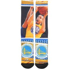 Golden State Warriors Stephen Curry For Bare Feet Hard Play 2 Socks
