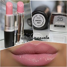 MAC Angel X Maybelline Color Whisper Lust for Blush. Mais dois muito parecidos, para não dizer quase idênticos, inclusive no acabamento. #swatches #dupes #lipstick #lovethis | Flickr - Photo Sharing!