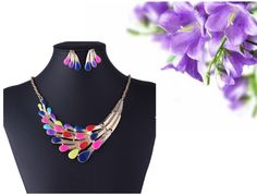 Find More Jewelry Sets Information about Jewelry Wholesaler Necklaces / Earrings Colorful Peacock Jewelry Set,High Quality jewelry display set,China jewelry showcase lighting led Suppliers, Cheap jewelry set silver from Michelle's Showcase on Aliexpress.com
