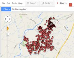 Mapping out WiFi networks, wardriving with an Android device.