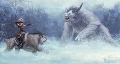 The Huntress and the Yeti by megillakitty on deviantART