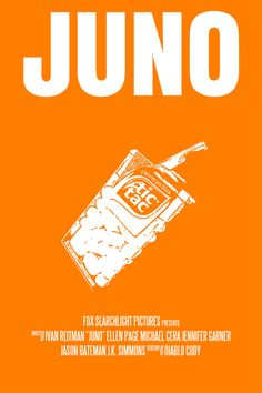 Juno Movie Poster Paper Or Plexiglas Or Canvas by FunnyFaceArt, $22,00