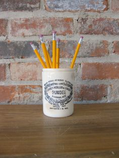 Antique Dundee Marmalade Jar Dundee Crock by RiverHouseDesigns, $42.00