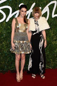 Pin for Later: Die British Fashion Awards halten was sie versprechen Anna Wintour mit Tochter Bee Shaffer