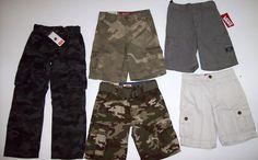 NEW Boys Size 6 LOT Cargo Shorts Pants Levis Vans Arizona Jean Co Khaki Camo #Levis #Everyday