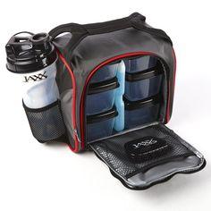 Fit   Fresh Original Jaxx FitPak Insulated Meal Prep Bag with Portion  Control Containers d6ac6a6a27e2e