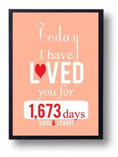 Romantic Gift for Him, Husband, Her// Housewarming Gift//Valentine Card Print-I Love You-Sale